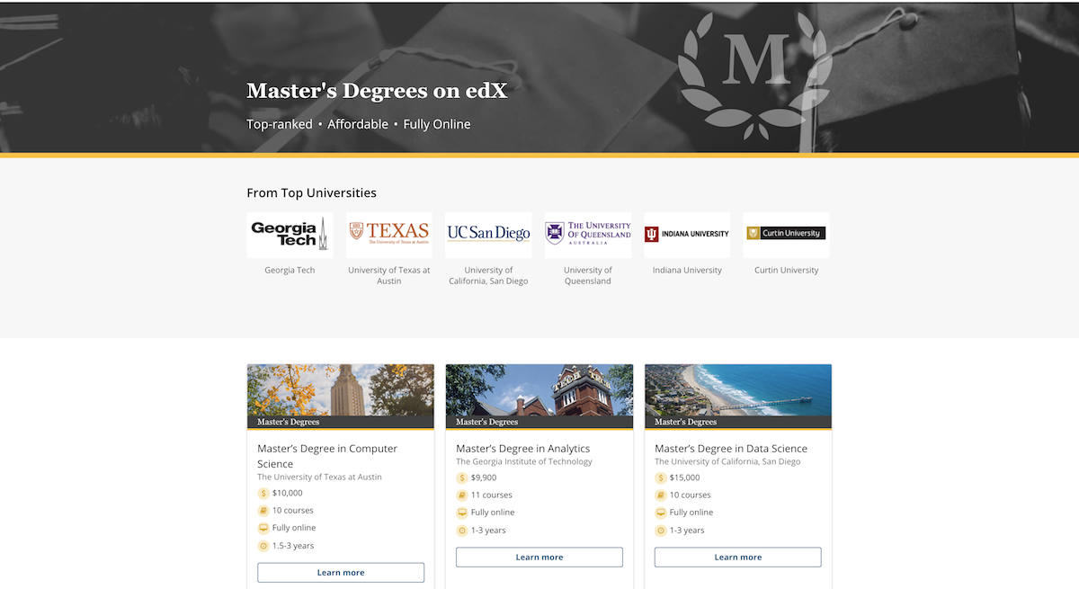 7 New MOOC-Based Fully Online Master's Degrees Announced by EdX