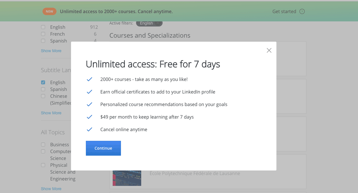 Coursera Experiments With A Single Subscription Price for the Entire Catalog