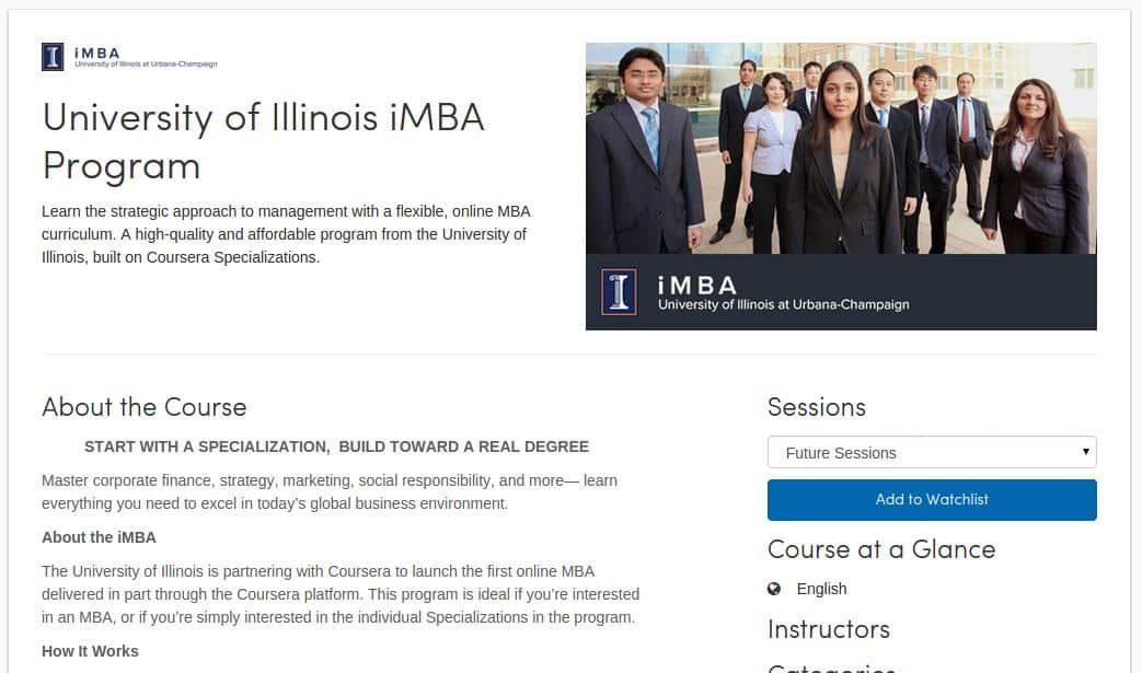 Coursera Partners with University of Illinois to Launch iMBA