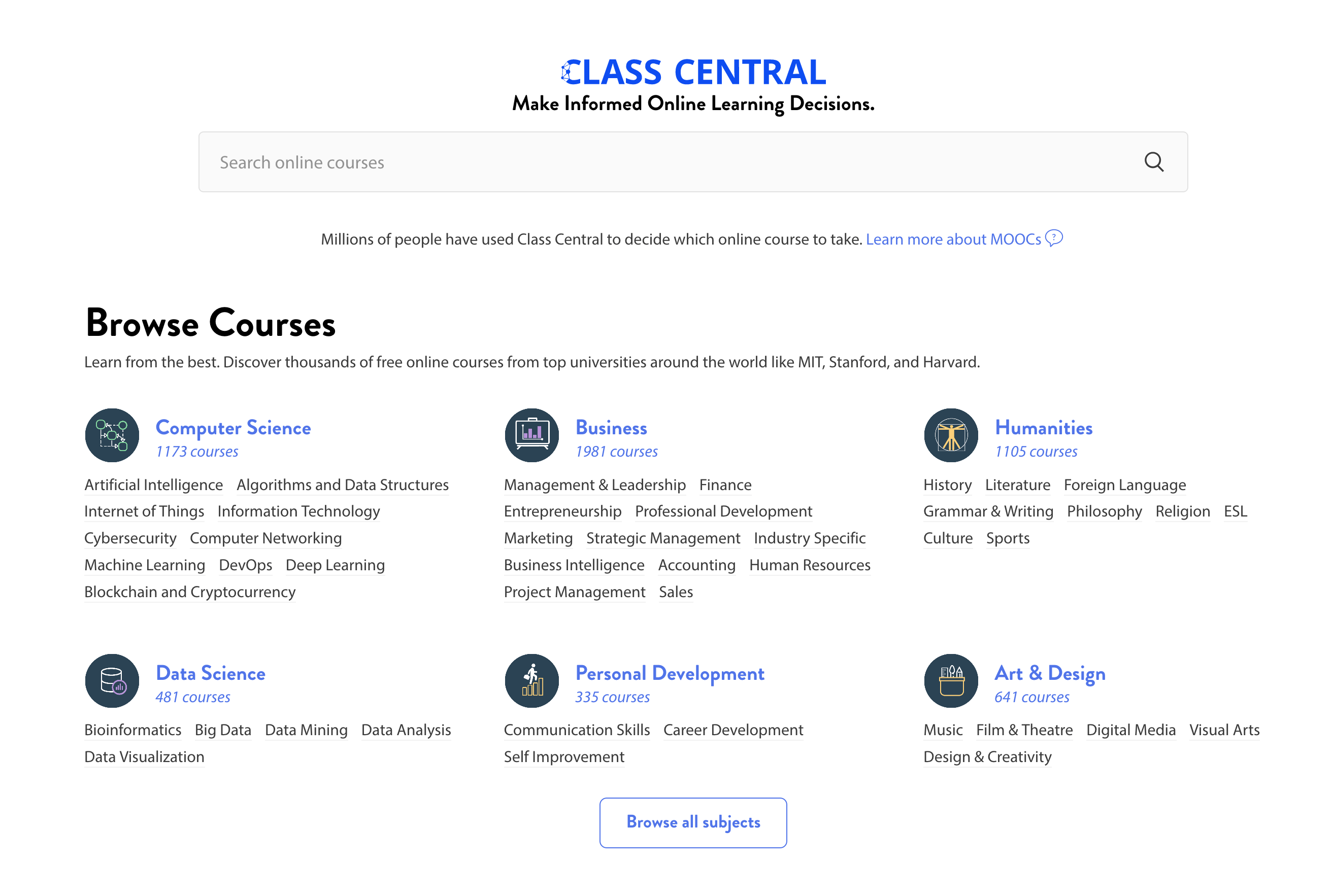 Python, Personal Finance, Computer Vision, Sales, Design Thinking, and more