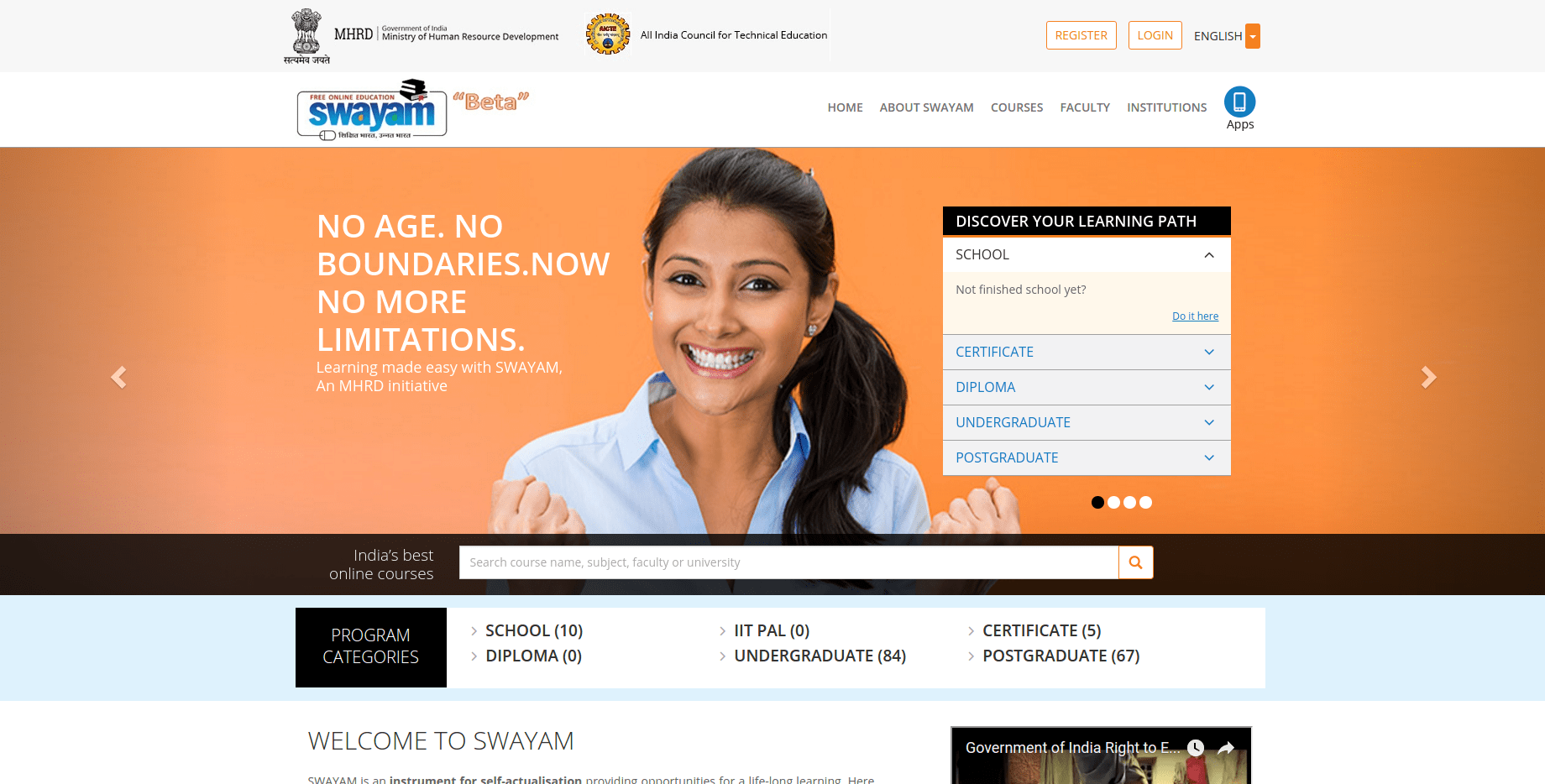 SWAYAM, India's MOOC Platform, Launches In Beta — It's Off To A Rocky Start