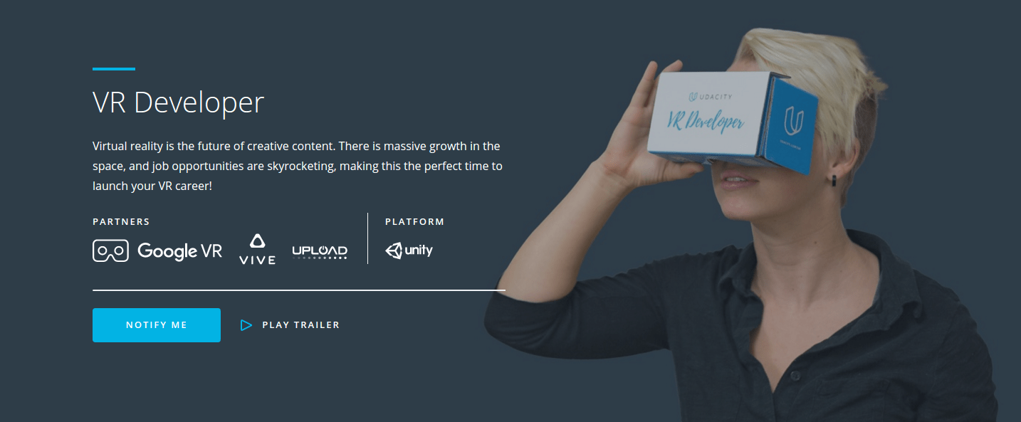 Udacity Launches VR Developer Nanodegree In Partnership With Google VR And HTC Vive