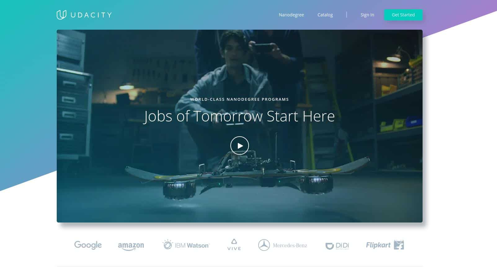 Udacity Starts Airing TV Commercial, Launches a Brand New Homepage