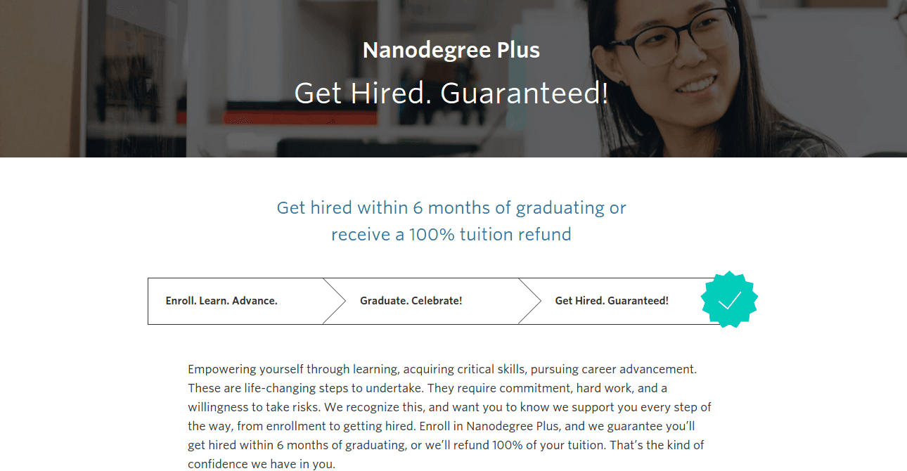 Udacity's Nanodegree Plus Comes With a Job Guarantee
