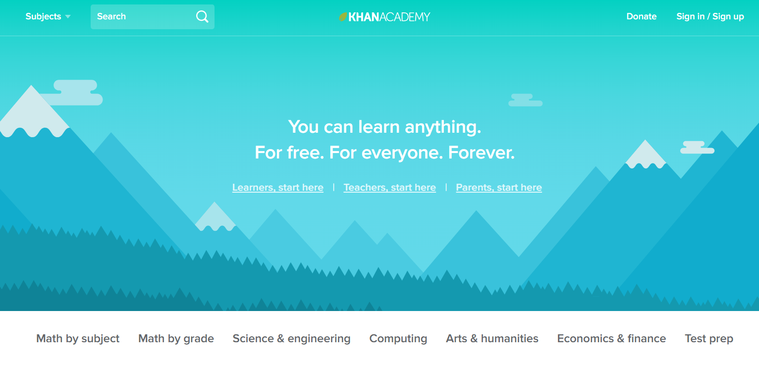 khan academy free online courses