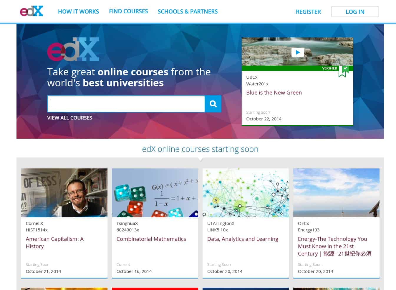 edX Updates Website with Course Search and Filtering