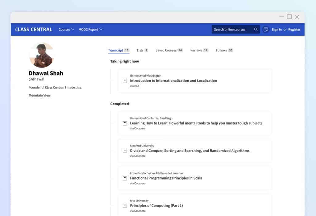 BestCerts Profile Page